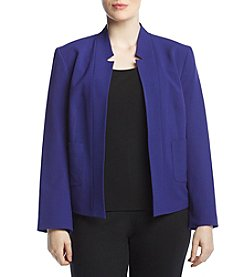 Nine West Plus Size Stand Back Fly Away Jacket