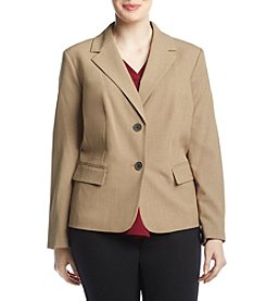 Nine West Plus Size Notch Collar Jacket
