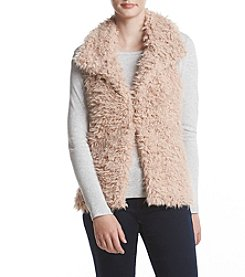 Sequin Hearts Vest Sherpa Fur-Lined