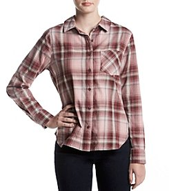 Hippie Laundry Plaid Button Up Top
