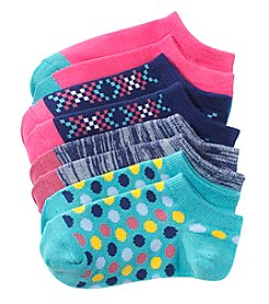 Miss Attitude Girls' 4 Pack Lowcut Multi Dot Dream Big Socks
