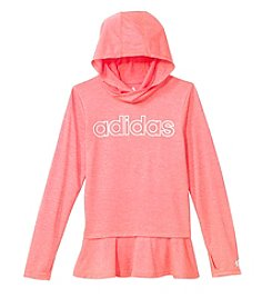 adidas Girls' 8-16 Long Sleeve On The Go Melange Hoodie