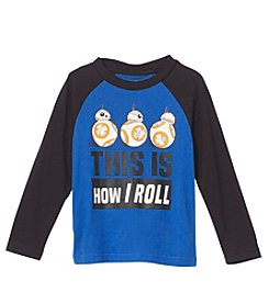 Mad Engine Boys' 2T-4T Long Sleeve BB-8 Roll Top