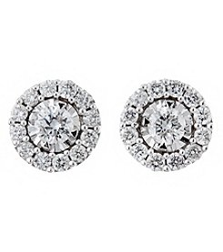 Effy Sterling Silver 0.43 Ct. T.W. Diamond Earrings