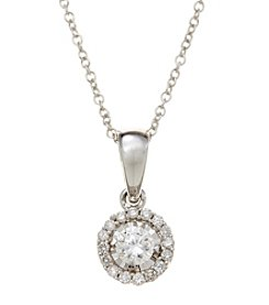 Effy Sterling Silver 0.24 Ct. T.w. Diamond Pendant Necklace