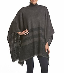 Lauren Ralph Lauren Brushed Saddle Strip Poncho Scarf