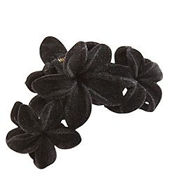 Twig & Arrow Accessories Velvet 3 Flowers Claw Hair Pin