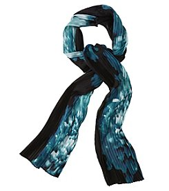 Calvin Klein Pleated Floral Scarf