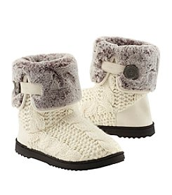Dearfoams Cable Knit Plush Sole Boots