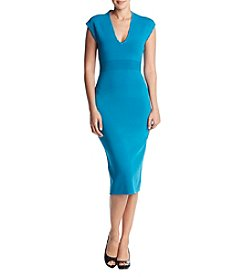 MICHAEL Michael Kors Cap Sleeve V-Neck Dress