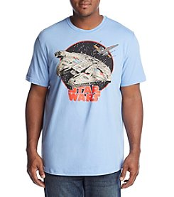Hybrid Men's Big & Tall Millennium Falcon Graphic Tee