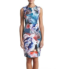 Calvin Klein Exploded Floral Scuba Dress