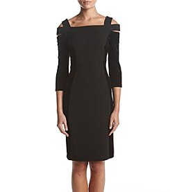 Calvin Klein Velvet Panel Sheath Dress