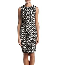 Calvin Klein Abstract Print Sheath Dress