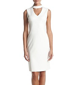 Calvin Klein Solid Choker Compression Dress