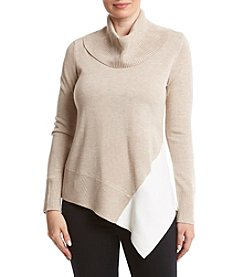 Calvin Klein Asymmetrical Hem Turtleneck Sweater