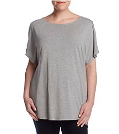 Ruff Hewn GREY Plus Size Cold Shoulder Top