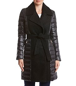 Ivanka Trump Mixed Media Wrap Down Coat