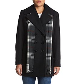 Forecaster Petites' Notch Collar Scarf Coat