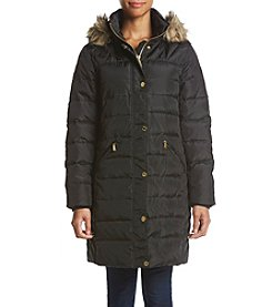 MICHAEL Michael Kors Petites' Quilted Faux Fur Trim Coat