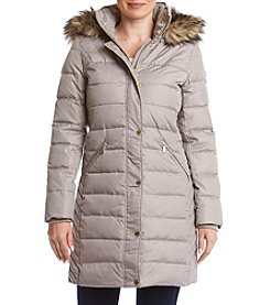MICHAEL Michael Kors Faux Fur Trim Quilted Coat
