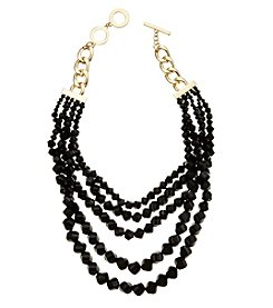 Anne Klein Goldtone Beaded Torsade Necklace