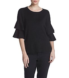 Relativity Ruffle Sleeve Sweater