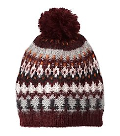 Ruff Hewn Fairisle Beanie With Pom