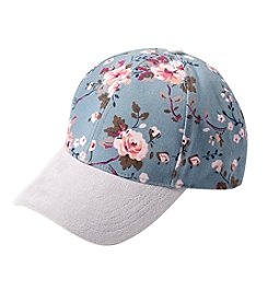Collection 18 Floral Denim Baseball Cap