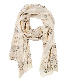 Collection 18 Embroidered Folk Wrap Oblong Scarf