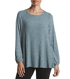 AGB Fuzzy Rib Jersey Back Tie Top
