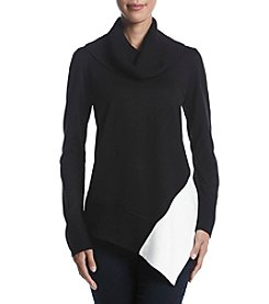 Calvin Klein Asymmetrical Hem Turtleneck Sweater Top