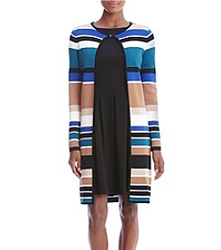 Calvin Klein Petites' Striped Long Cardigan