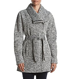 Steve Madden Asymmetrical Zip Fleece Coat