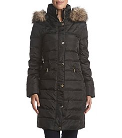 MICHAEL Michael Kors Faux Fur Hood Quilted Coat
