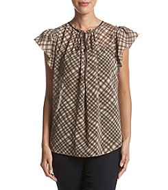 Max Studio Edit Tie Neck Top