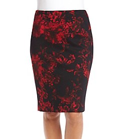 Kasper Printed Slim Skirt