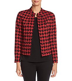 Kasper Houndstooth Pattern Jacket