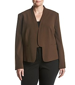 Nine West Plus Size Shawl Collar Jacket