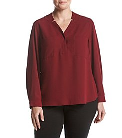 Nine West Plus Size Two Pocket Top