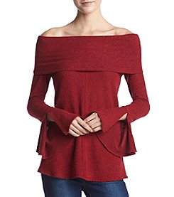A. Byer Off The Shoulder Bell Sleeve Top