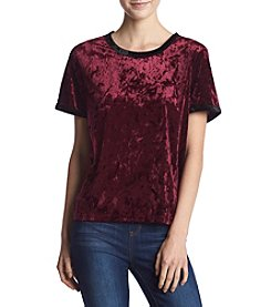 Hippie Laundry Crushed Velvet Ringer Top