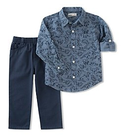 Kid's Headquarters Baby Boys' Dino Print Shirt & Pants Set