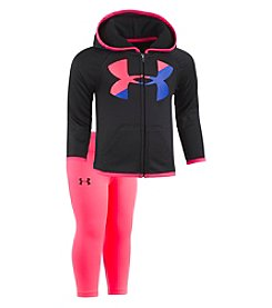 Under Armour Baby Girls' 12M-24M Big Logo Hoodie Set