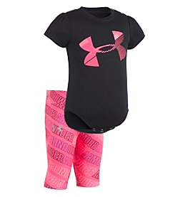 Under Armour® Baby Girls' Short Sleeve Wordmark Tee and Capri Set
