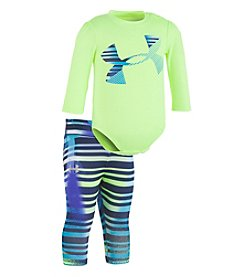 Under Armour Baby Girls' Long Sleeve Logo Tee and Capri Set