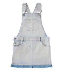 Calvin Klein Girls' 7-14 Released Hem Denim Skirt Overalls
