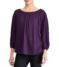 Lauren Ralph Lauren Embroidery Detail Peasant Top