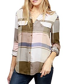 Lucky Brand Plaid Woven Top
