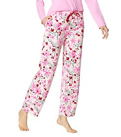 HUE Flurry Floral Velour Pants